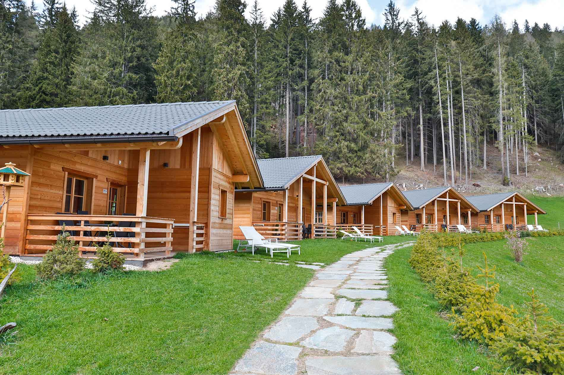 Chalets in the Dolomites